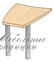 Стол-приставка 1000х750х750