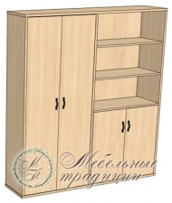 Шкаф комбинированный 1809х475х2037