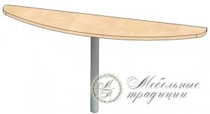 Стол приставной 1600х335х750