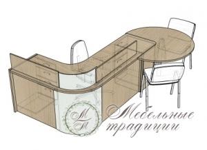 Стол для секретаря 2200х1600х750